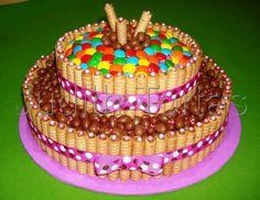 Torta decorada von golosinas