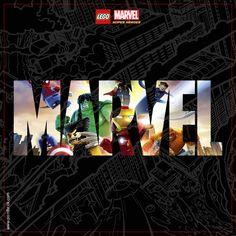 LEGO Minifigures Display Frame - Background 230mm Marvel 2 - Clicca…