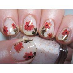 Beautiful flower nails #nails #nailart