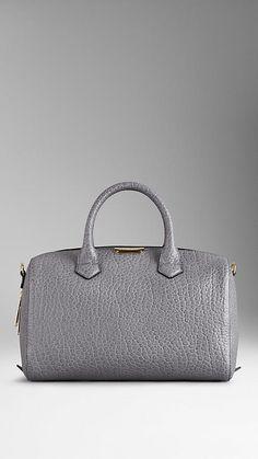 Medium Signature Grain Leather Bowling Bag   Burberry $1,495.00 Item 39256561