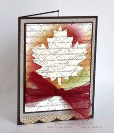 Emboss resist card with Stampin' Up! En Francais Stamp Set