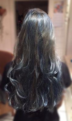 #bluegrey Hair follow me on insta @_.vxvxen._ ❤