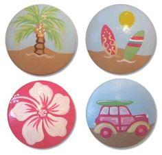 Items similar to Hand Painted Girl Surf Drawer Knobs Nursery Cabinet Pulls on Etsy Bedroom Themes, Girls Bedroom, Sea Bedrooms, Bedroom Ideas, Hawaiian Bedroom, Hawaiian Decor, Surfer Bedroom, Surf Room, Surf Nursery
