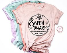 Seven Dwarfs Mining Company Shirt Trendy Unisex Disney- Womens Shirt- Unisex Disney Couple Shirts, Disney Family, Disney Mouse Ears, Best Friend Outfits, Mining Company, Seven Dwarfs, Heat Transfer Vinyl, Tee Shirts, Trending Outfits