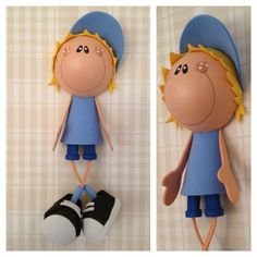 fun foam boy doll (to be mounted flush with a flat surface)...photo