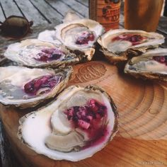 A new summer-inspired accoutrement for oysters on the half shell: Blueberry Mignonette {recipe}