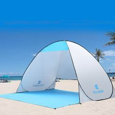 Relax and take in the summer breezes while staying protected from UV rays with this Quick automatic opening beach cabana.