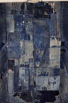 古布 木綿 襤褸 BORO cotton Japanese antique textile : 京都から古布のご紹介