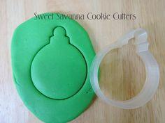 Christmas Bauble No.1 Cookie Cutter by SweetSavannaCookies on Etsy
