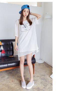 Korean fashion chiffon dress