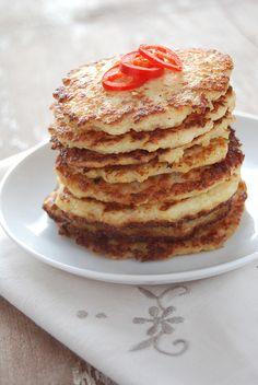 Savoury Cauliflower Pancakes - without precooking the cauliflower!
