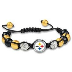 Pittsburgh Steelers Macramé Beaded Bracelet...adding to my shopping list :)