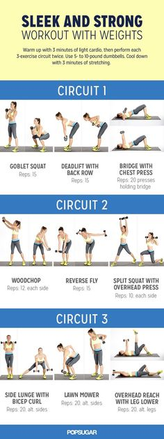 Sleek And Strong Workout With Weights