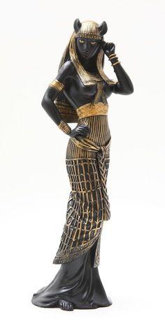 ANCIENT EGYPTIAN LARGE GODDESS BASTET STATUE CAT HUMAN FORM DEITY FIGURINE
