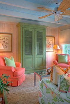 Mary-Bryan Peyer Designs, Inc. Tropical Bedrooms, Tropical Home Decor, Tropical Houses, Coastal Decor, Coastal Style, Tropical Colors, Tropical Interior, Tropical Style, Interior Design Inspiration