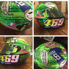 A present to the Hayden family from Valentino Rossi, the helmet Valentino wore for Mugello this year