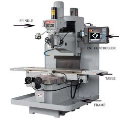 Functions of CNC Milling Machine Parts and Components Explained - Mechanical Engineering Milling Machine Parts, Machining Process, Mechanical Engineering, Espresso Machine, Espresso Maker, Engineering, Coffee Machines