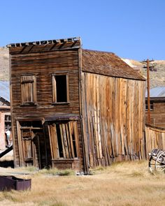 Abandoned wild west gold mining town - Bodie, California, USA
