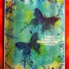 Visible Image stamps - Inky Butterfly - Kim Bacon