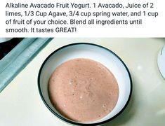 Alkaline Vegan Avocado fruit yogurt with Dr Sebi approved ingredients