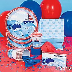 Celebrate his first birthday with 1st Birthday Sailor Party Supplies!