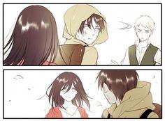 Shingeki no Kyojin┋Атака Титанов┋Attack on Titan Mikasa X Eren, Armin, Attack On Titan Funny, Attack On Titan Anime, Death Note, Anime Manga, Anime Guys, Tokyo Ghoul, Rwby Pyrrha