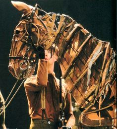 """War Horse puppets """"The stage production of War Horse is a modern and collaborative wonder. Unmissable."""" KB"""
