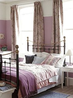 Purple & Cream /Charcoal Grey Bedroom
