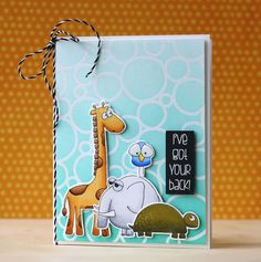 Laura used the new Stacking Animals stamps from Simon Says Stamp! So much fun to color!