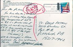 David Foster Wallace, Post Card - This correspondence was on display at The Chicago Review of Economics.