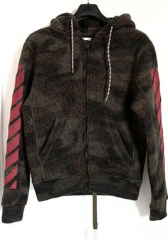 BNWT OFF-WHITE C/O VIRGIL ABLOH MEN'S CAMOUFLAGE HOODED CARDIGAN sz XXS,680$…