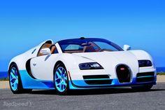 2012 Bugatti Veyron 16.4 Grand Sport Vitesse Bianco and New Light Blue