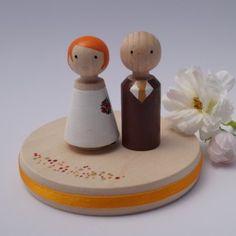 Personalisierter Cake Topper für die Hochzeitstorte von perlenspiel.de