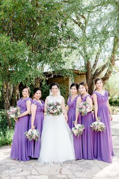 Wedding color ideas with lavender bridesmaid dresses from tulleandchantilly Photography @victorialiuphotography Lavender Bridesmaid Dresses, Affordable Bridesmaid Dresses, Junior Bridesmaids, Wedding Bridesmaids, Glitter Roses, Wedding Planning, Wedding Ideas, Online Dress Shopping, Wedding Colors