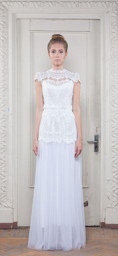 White wedding dress by Katya Katya Shehurina