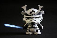 Darth Vader and Stormtrooper Samurai Custom Munny Designs — GeekTyrant