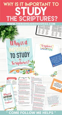 Why is it important to study the scriptures? Teaching Package (PDF Download) - The Red Headed Hostess