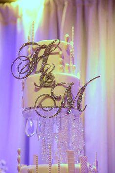6 Swarovski Crystal Custom Monogram Cake Topper by Chicsparkles Monogram Cake Toppers, Gold Cake Topper, Wedding Album, Our Wedding, Garden Wedding, Dream Wedding, Sparkle Cake, Always A Bridesmaid, Sparkle Wedding