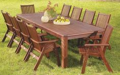 Wideboard 11pc Outdoor Dining Set, Outdoor Dining Sets