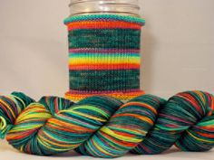 Pessimist's Rainbow Handdyed gradient by WhiteBirchFiberArts. WANT!!!
