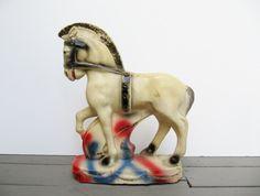Vintage Carnival Chalkware Horse.