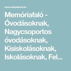 Memóriafaló - Óvodásoknak, Nagycsoportos óvodásoknak, Kisiskolásoknak, Iskolásoknak, Felnőtteknek - Asztali játék - Szobai játék - Zsúrjáték - Zsúrjátékok.hu
