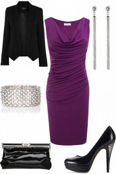 purple purple purple I have a dress that looks just like this. Never though to pair it with a blazer.. hmmm.