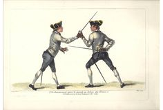 The disarm after the parry to the outside of the sword. From the School of Fencing by Domenico Angelo.