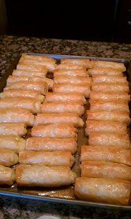 Galaktoboureko aka farina rolls