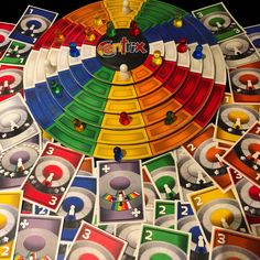 Centrix and new cards: Spin Climb, Jump Bump, a family friendly game Tabletop Games, Friends Family, Bump, Ferris Wheel, Spin, Cards, Painting, Board Games, Painting Art