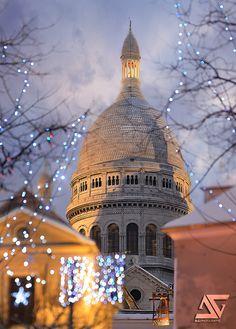 Christmas @ Sacré Coeur by A.G. Photographe on Flickr.