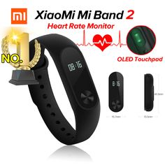 Original Xiaomi Mi Band 2 Miband 2 Fitness Tracker Heart Rate Monitor OLED Display Touchpad Bluetooth For Android IOS Fitness Tracker, Smart Bracelet, Heart Rate Monitor, Jogging, Cool Things To Buy, Stuff To Buy, Smart Watch, The Originals, Bracelets
