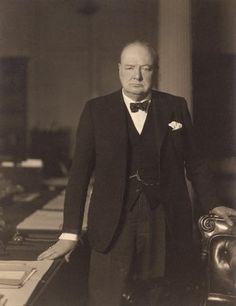 Sir Winston Leonard Spencer Churchill by  Walter Stoneman