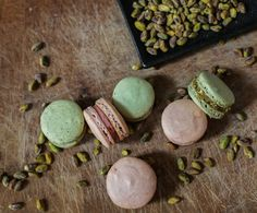 while over in the Bistro, dessert rage are pistachio macaroons